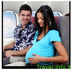 Ar verta leistis į kelionę lėktuvu, jei laukiatės kūdikio?