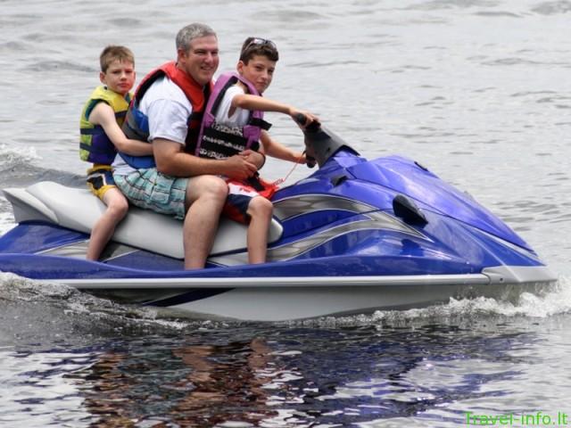 Vandens motociklo, slidžių, rato nuoma