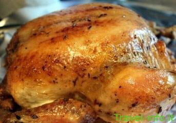 Aluje keptas viščiukas